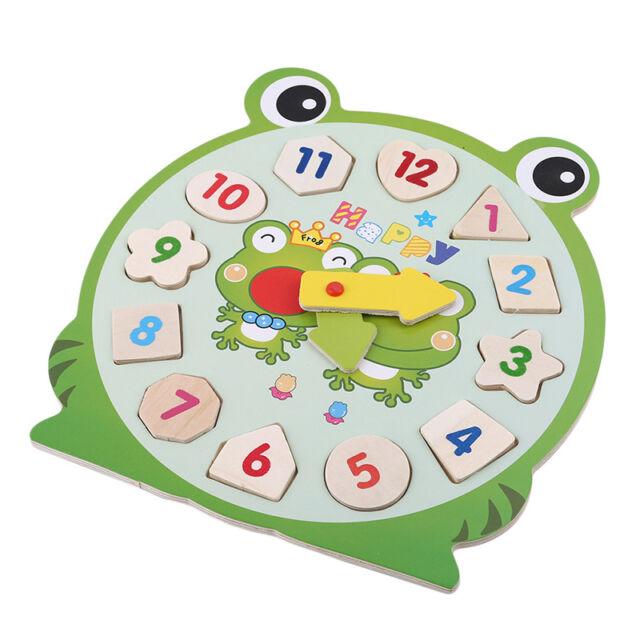 Diy 3d Clock Wooden Toys Puzzle Cartoon Eva Animal For Kids Baby Arts Crafts Ki