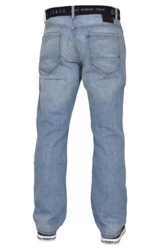 Smith and Jones Da Uomo In Denim Jeans Taglio Regolare Stivale Pantaloni Pants Tutte Le Taglie Vita