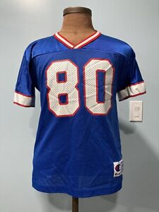 Details about Vintage 90s Eric Moulds #80 Buffalo Bills Champion Jersey Youth L Adult S NFL