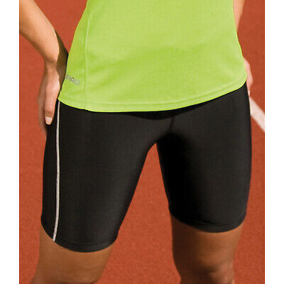 Spiro Ladies Bodyfit Base Layer Shorts Womens Quick Dry Lightweight Tight Shorts Im In- Und Ausland FüR Exquisite Verarbeitung, Gekonntes Stricken Und Elegantes Design BerüHmt Zu Sein