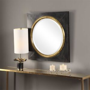 Details About Urban Dark Bronze Square Wall Mirror 30 Large Vanity