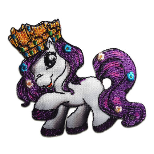 Aufnäher Bügelbild lila 7,3x6,5cm Filly Prinzessin Snow Queen Comic
