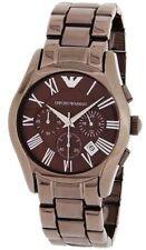 Emporio Armani AR1610 Classic Men's Brown Chronograph Watch  New In Box