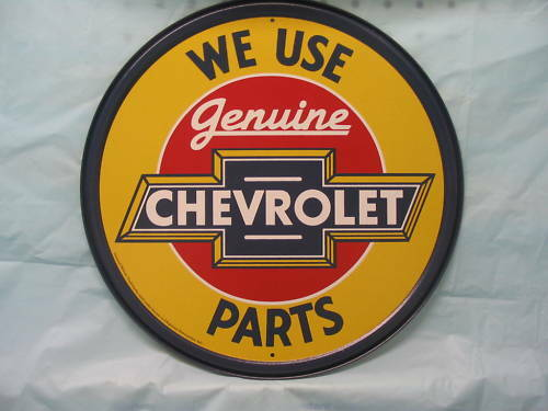 Chevrolet Tin Metal Adverting Sign Auto Parts Chevy Car Truck
