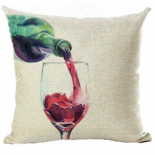 """Sketch Wine Glass Bottle Throw Pillow Case Cushion Covers Home Decorative 18/"""""""
