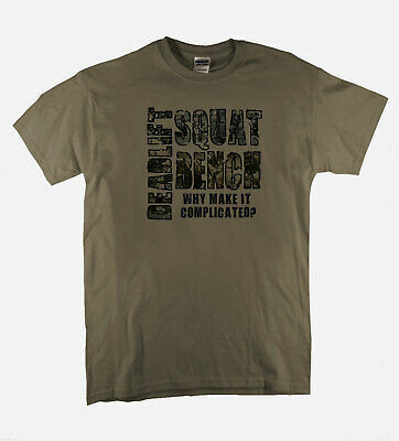 Squat Bench Dead Lift Tee Heavy Weight Powerlift Crossfit Training Tee Men Tshir