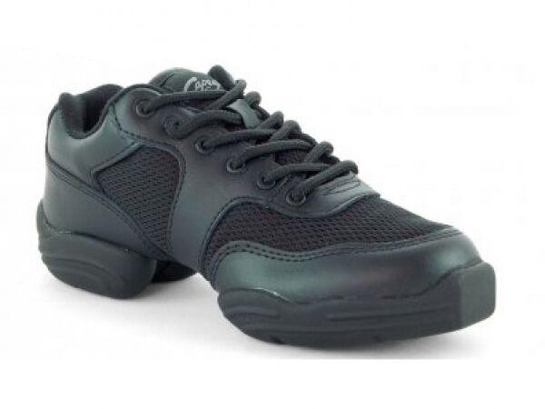 Capezio Black Leather DS02 Low Top Street Dance Hip Hop Dansneakers UK 3 (US 6M)