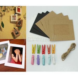 10-Hanging-Photo-Frame-Paper-Album-Wall-Picture-Photograph-Display-DIY-Rope-Clip