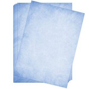 50 Blatt Briefpapier Set DIN A4 Briefbögen Motivpapier Bastelpapier hell-blau