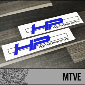 High Performance Parts >> 2x Bmw Hp High Performance Parts Vinyl Decals Stickers