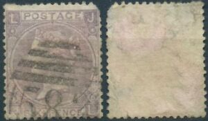 Gran-Bretagna-MER-n-25-timbrato-Regina-Vittoria-6-pence-Six-PENCE