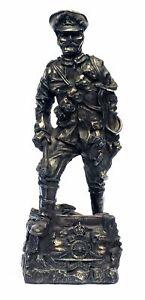 WW1-Horse-Gunner-Cold-Cast-Bronze-Military-Statue-Sculpture