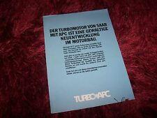 Prospectus  / Brochure SAAB 900 Turbo APC 1977 //