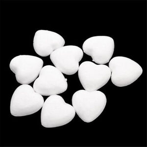 20-50pcs-White-Foam-Styrofoam-Polystyrene-Modelling-DIY-Craft-Heart-Shape-Decor