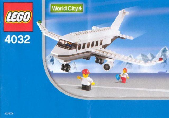 LEGO set 4032 Airport Pilot Israel Travel Passenger Plane - EL AL Version