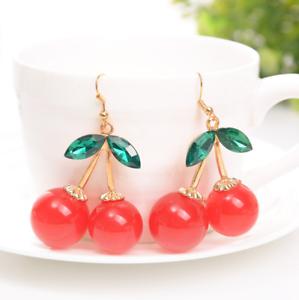 Lovely Cherry Drop Dangle Earrings Fashion Simple Earring Jewelry Accessories