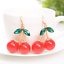 Lovely-Cherry-Drop-Dangle-Earrings-Fashion-Simple-Earring-Jewelry-Accessories thumbnail 1
