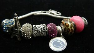 Details About Charmed Memories Kay Jewelers Charm Bracelet Penn State Paris More
