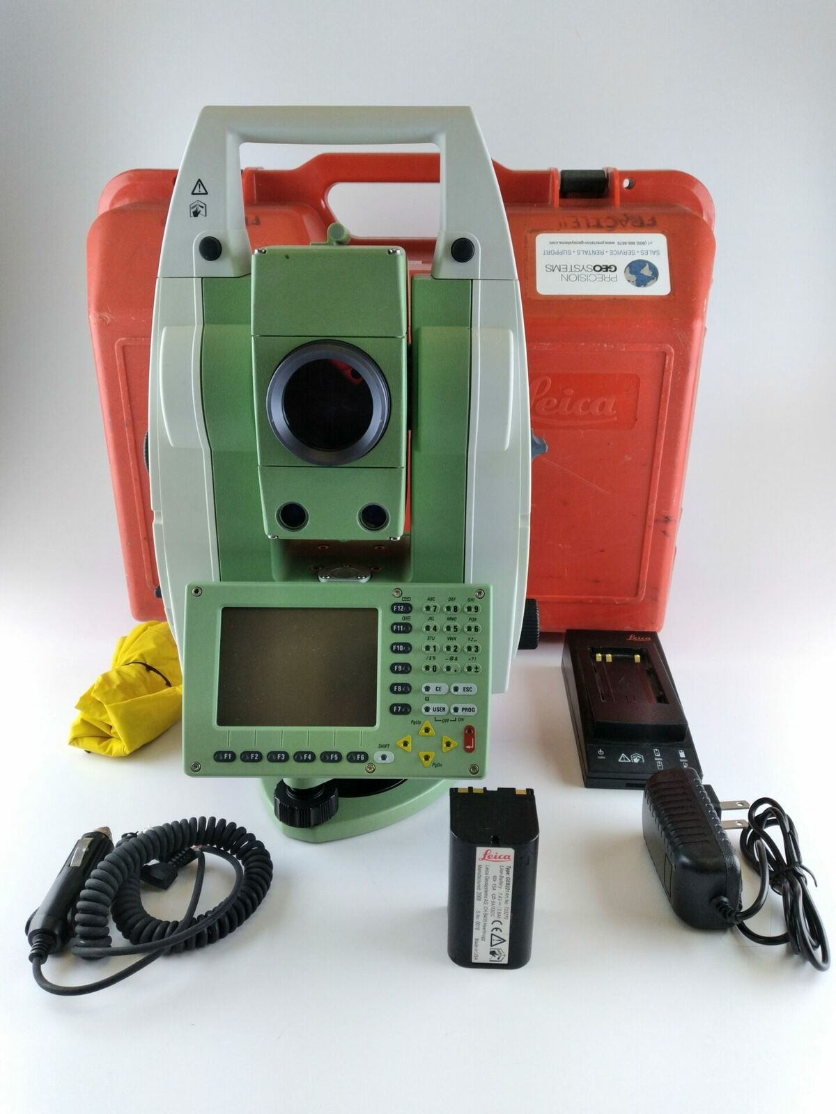 """Leica TCA1201M 1"""" Robotic Total Station w/ATR and Internal Memory, Reconditioned"""