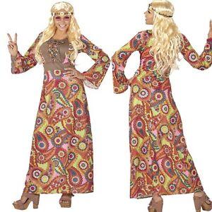 Damen-Kostuem-colorful-HIPPIE-WOMAN-60er-70er-Jahre-Schlagermove-S-XXL