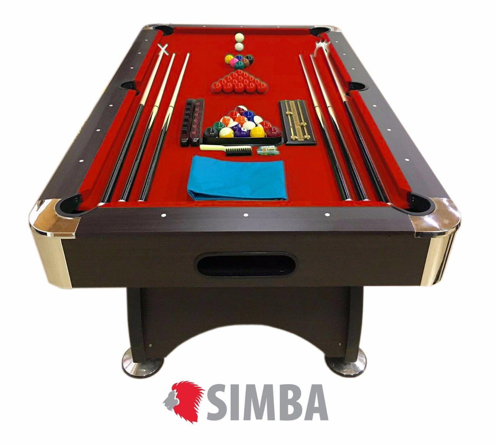 TAVOLO DA BILIARDO + ACCESSORI PER CARAMBOLA - SNOOKER red billiard table 7FT