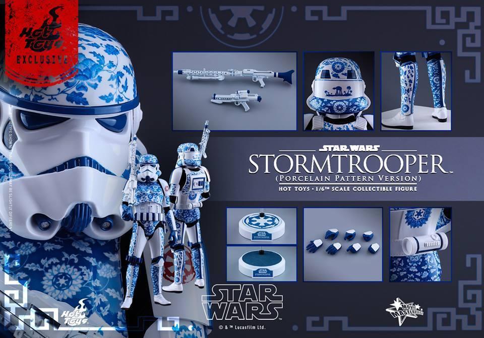 Hot Toys Star Wars 1 6 STORMTROOPER (Porcelain Pattern Version)  Figure