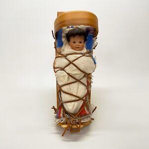 Wendy-Lawtons-Cherished-Customs-1992-Cradleboard-Navajo-Figurine-Box-COA-545-750