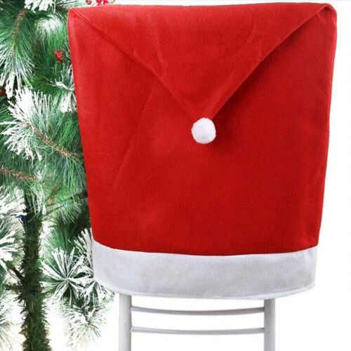 Christmas Party Decor Hat Chair Back Cover Dinner Table Bag Santa Claus Gifts
