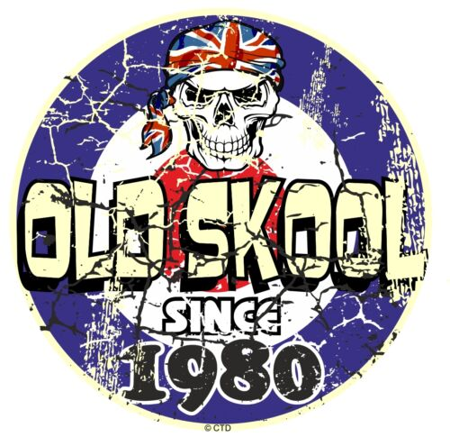 Distressed Aged OLD SKOOL Since 1980 Mod Style Target Motorcycle car sticker