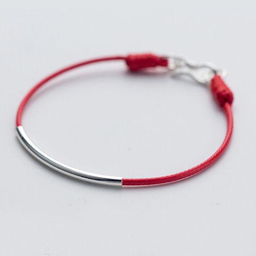 Bracciale da Donna Silver Argento 925 Corda Rossa BR138