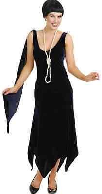 Sandy Speak Easy Speakeasy 20's Flapper Blue Fancy Dress Halloween Adult Costume
