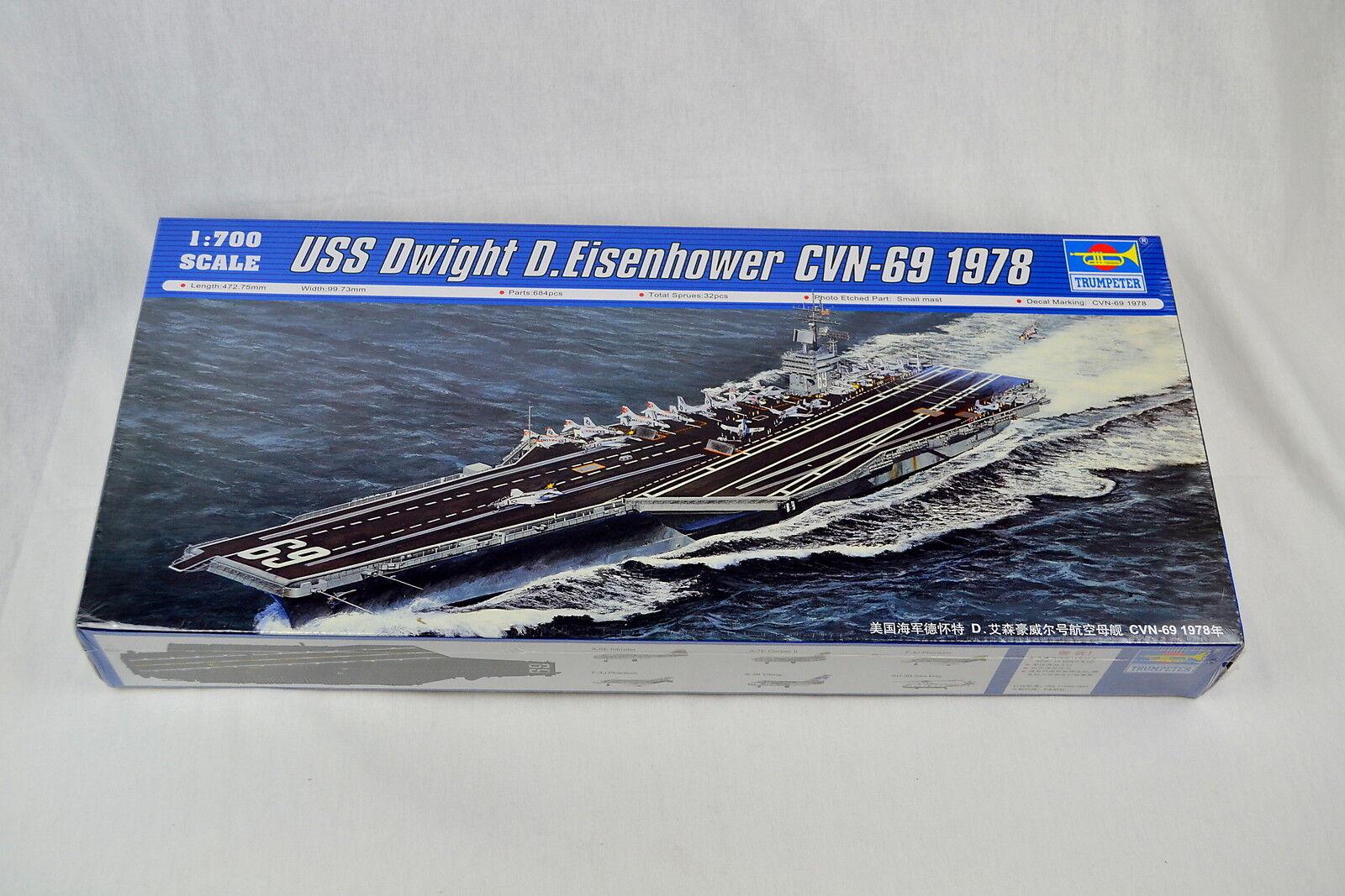 Trumpeter 5753 1 700 USS Dwight D.Eisenhower CVN-69 1978