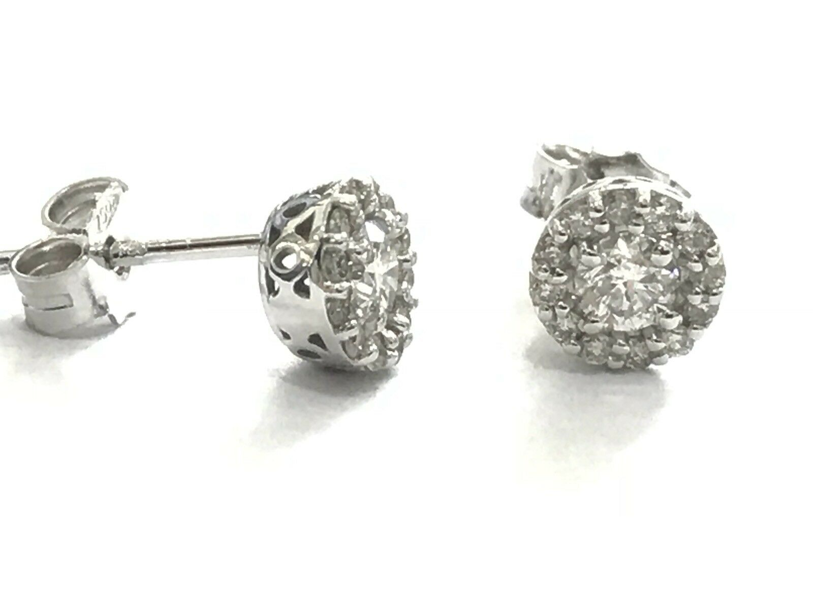 c2c2318207efc 0,42 natural diamonds and gold CT 18 SPOT LIGHT EARRINGS CT white ...