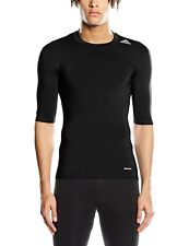 Adidas Men's Tech Fit Base T-Shirt Black/NEGRO Large -