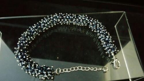 "Armband /""Black Crystal Messing/"" 21cm 5cm  13mm breit TOP Sarah Kern"