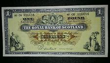 THE ROYAL BANK OF SCOTLAND £1 ONE POUND STERLING BANKNOTE P235b 1965 VF/EF