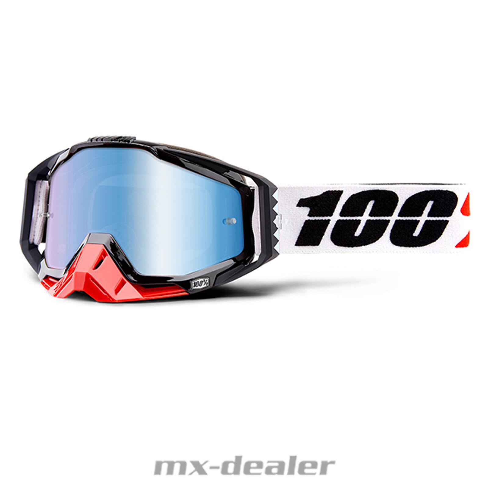 2019 100% Racecraft efecto espejo Marigot MX motocross Cross gafas MTB BMX DH