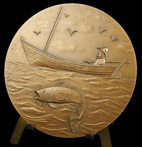 Medaille-Saint-Pierre-et-Miquelon-Peche-a-la-morue-Cod-Fishing-68-mm-Medal