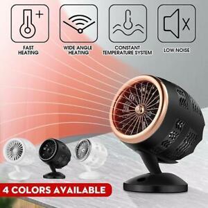 Portable Mini Desk Fan Office Home Desktop Winter Warm Space Electric Heater