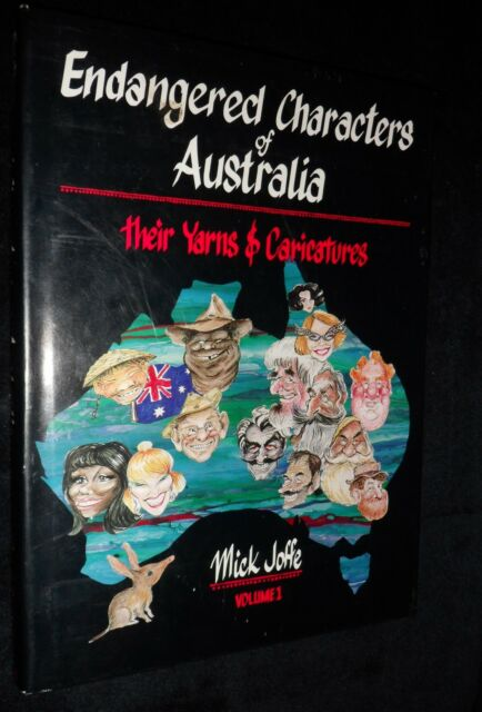 MICK JOFFE Endangered Characters of Australia: Their Yarns & Caricatures  Signed