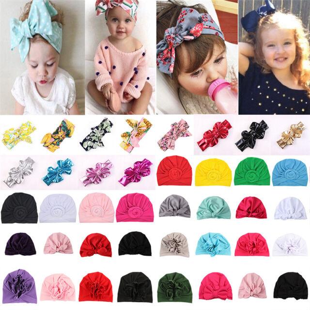 Baby Toddler Kids Funny Rabbit Bow Knot Turban Headband Hair Band Headwrap Soft