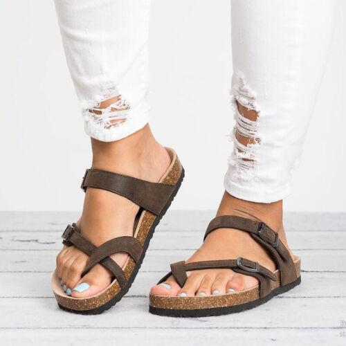 36-43 Damen Boho Sandaletten Zehentrenner Sandalen Riemchensandalen Sommerschuhe