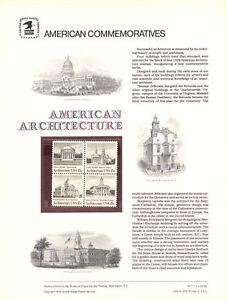 111-15c-Architecture-Block-1-1779-1782-USPS-Commemorative-Stamp-Panel