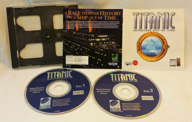 Titanic Adventure Out of Time Game PC 1996 Case Manual 2 Disks Win Mac VG Cond