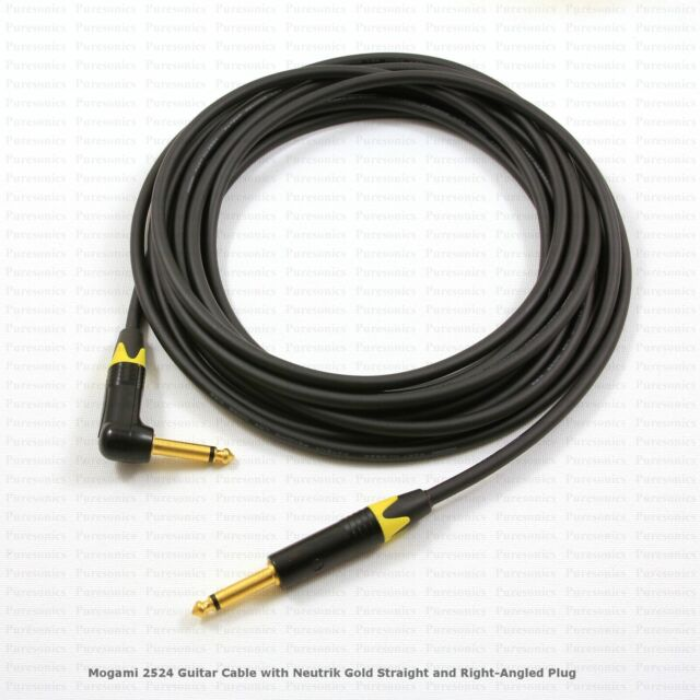 MOGAMI 2524 GUITAR CABLE WITH NEUTRIK PRO PLUGS - CHOOSE YOUR OWN OPTIONS & BUY!