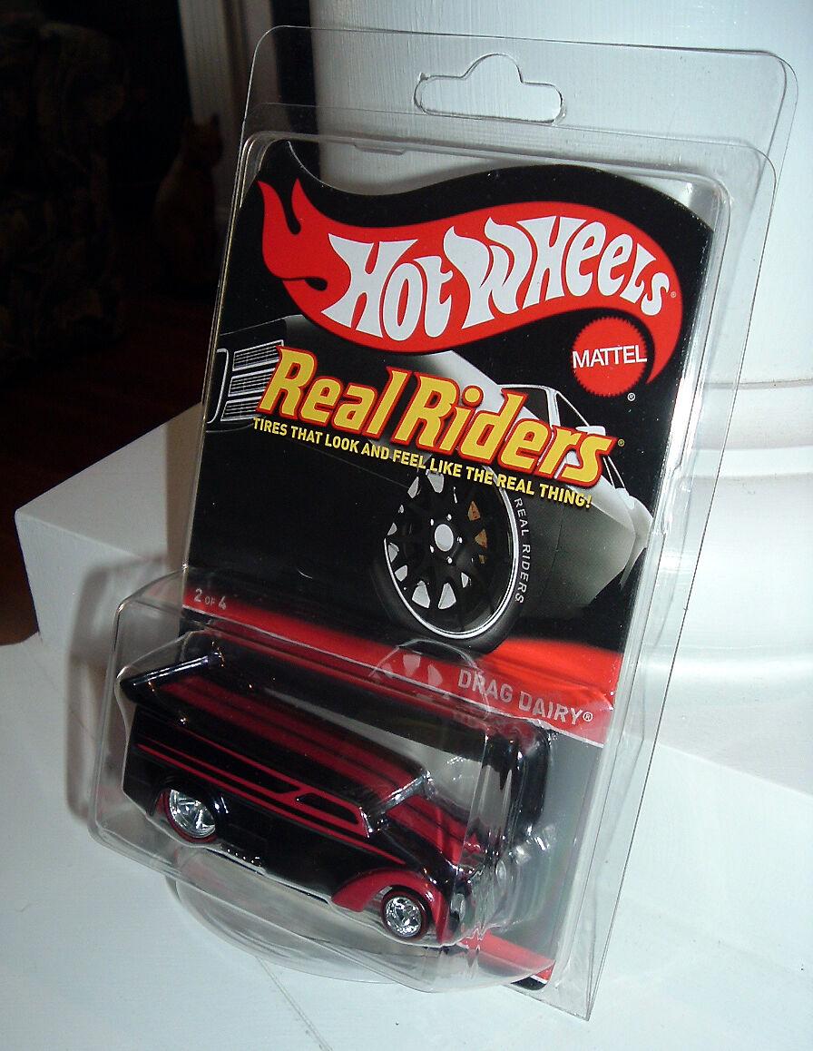 RARE 2017 Hot Wheels RLC Series 14 Real Riders DRAG DAIRY - MOC