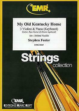 My Old Kentucky Home Stephen Foster 3 Violins Piano MUSIC SET SCORE /& PARTS