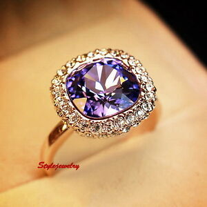Rose-Gold-Plated-Amethyst-Square-Cocktail-Ring-Made-with-Swarovski-Crystal-R196