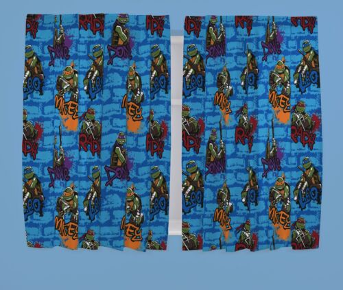 URBAN TEENAGE MUTANT NINJA TURTLES BLUE RED PURPLE ORANGE BEDDING OR CURTAINS
