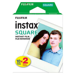 1 Pack 20 Instant Photos FujiFilm Instax SQUARE Film Polaroid Camera For SQ10